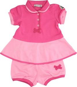 Różowa sukienka dziewczęca Moncler