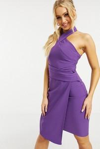 Fioletowa sukienka Lipsy bez rękawów