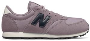 Różowe buty sportowe dziecięce New Balance z zamszu