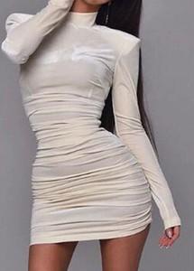 Sukienka Arilook ołówkowa w stylu casual z długim rękawem