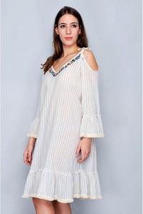 Sukienka Tarifa mini z bawełny z długim rękawem