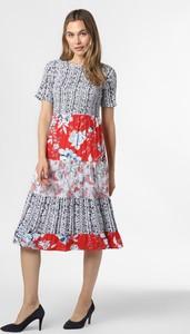 Sukienka Rich & Royal z krótkim rękawem midi z okrągłym dekoltem