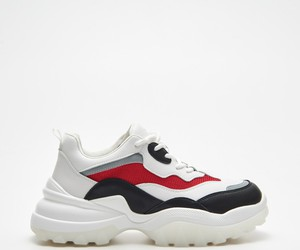 Sneakersy Cropp na platformie sznurowane