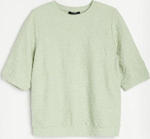 Bluzka Reserved z krótkim rękawem z dzianiny w stylu casual