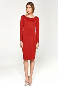 Sukienka Merg ołówkowa z długim rękawem midi