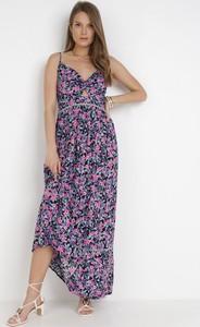 Fioletowa sukienka born2be maxi