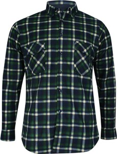 Granatowa koszula Formax z bawełny z długim rękawem