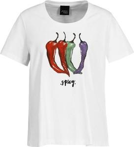 T-shirt Persona by Marina Rinaldi z krótkim rękawem w młodzieżowym stylu z okrągłym dekoltem