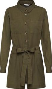 Zielony kombinezon Only z krótkimi nogawkami w militarnym stylu