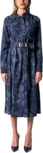 Sukienka Desigual w stylu casual z długim rękawem midi
