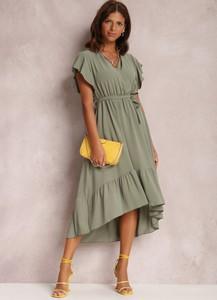 Sukienka Renee w stylu casual asymetryczna z krótkim rękawem