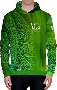 Zielona bluza Power Canvas z bawełny w młodzieżowym stylu