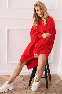 Czerwona sukienka Ptakmoda.com