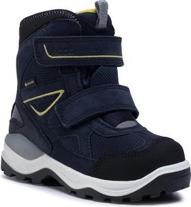 Granatowe buty dziecięce zimowe eobuwie.pl na rzepy