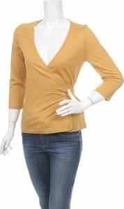 Żółta bluzka Trucco w stylu casual z długim rękawem