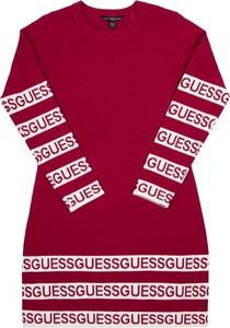 Czerwona sukienka dziewczęca Guess