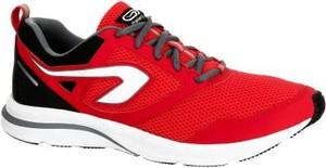 Czerwone buty sportowe Kalenji sznurowane