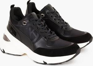 Czarne buty sportowe Kulig ze skóry sznurowane