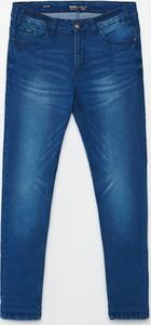 Granatowe jeansy Cropp w stylu casual