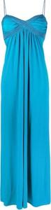 Sukienka Pinko maxi z dekoltem w kształcie litery v z dżerseju