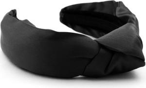 So Fluffy Jedwabna opaska z wiązaniem SOFIA – czarna