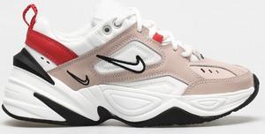 Różowe buty sportowe Nike ze skóry sznurowane