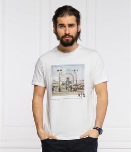 T-shirt Armani Exchange z krótkim rękawem z nadrukiem
