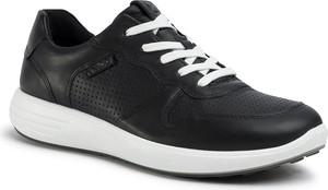 Czarne buty sportowe Ecco sznurowane
