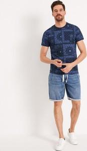T-shirt Diverse z krótkim rękawem w młodzieżowym stylu z bawełny
