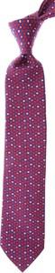 Fioletowy krawat Battistoni