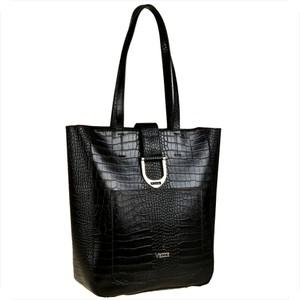 Czarna torebka vezze w wakacyjnym stylu duża ze skóry