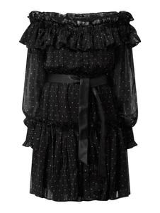 Sukienka Guess z długim rękawem z okrągłym dekoltem mini