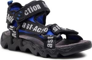Granatowe buty dziecięce letnie Twisty na rzepy
