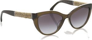 Brązowe okulary damskie Chanel
