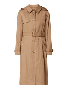Brązowy płaszcz Ralph Lauren z bawełny