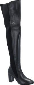 Kozaki Stuart Weitzman ze skóry w stylu glamour na obcasie