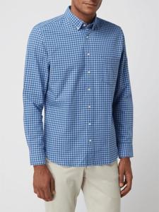 Koszula Montego z tkaniny z długim rękawem z klasycznym kołnierzykiem