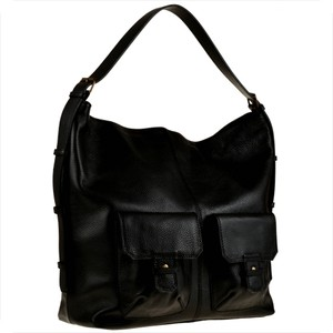 Czarna torebka Borse in Pelle na ramię duża