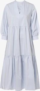 Sukienka Marie Lund z długim rękawem maxi rozkloszowana