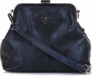 Granatowa torebka David Jones średnia