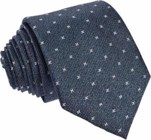 Granatowy krawat Republic of Ties z jedwabiu