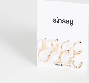Sinsay - Kolczyki ze zdobieniem - Beżowy