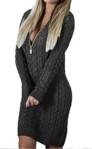 Czarna sukienka Sandbella z długim rękawem