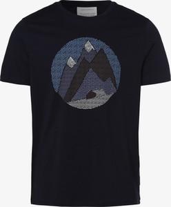 Niebieski t-shirt ARMEDANGELS w młodzieżowym stylu z bawełny z krótkim rękawem