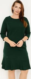 Zielona sukienka Zaps Collection w stylu casual z okrągłym dekoltem trapezowa