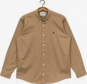 Brązowa koszula Carhartt WIP z klasycznym kołnierzykiem z długim rękawem