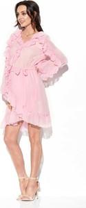 Różowa sukienka Merg mini