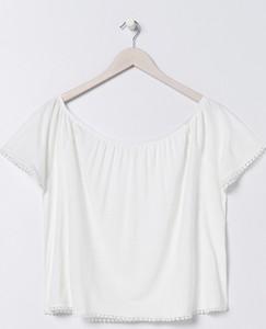 Bluzka Sinsay w stylu casual z krótkim rękawem