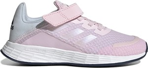 Różowe buty sportowe dziecięce Adidas sznurowane duramo