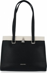 Czarna torebka David Jones ze skóry ekologicznej duża w stylu glamour